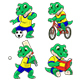 Set of Actions with a Crocodile Toddler - GraphicRiver Item for Sale
