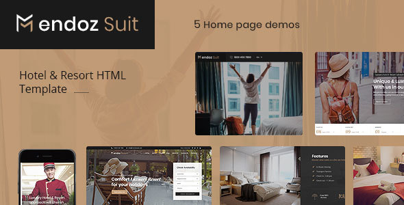 Mendoz Suit - Hotel & Resort HTML Template