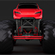 Monster Truck Tesla Roadster - 3DOcean Item for Sale