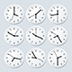 Realistic Detailed Clock Set with Different Time - GraphicRiver Item for Sale