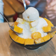 Group of people enjoy eating mango bing su, Korean dessert - PhotoDune Item for Sale