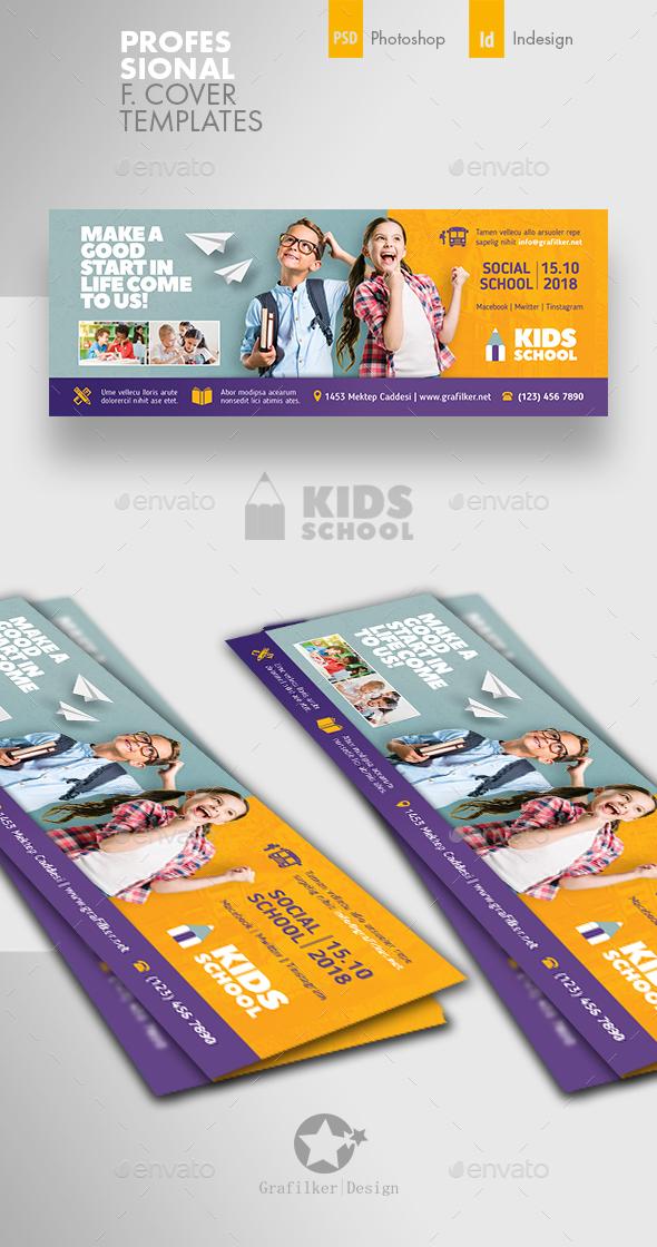 Kids School Cover Templates - Facebook Timeline Covers Social Media