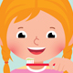 Vector Cartoon Girl with Toothbrush - GraphicRiver Item for Sale