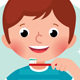 Vector Cartoon Boy Brushing his Teeth - GraphicRiver Item for Sale