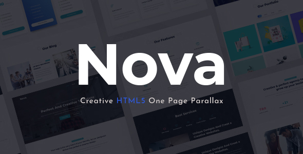 Novax - One Page Parallax