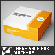 Large Square Shoe Box / Package Mock-Up - GraphicRiver Item for Sale