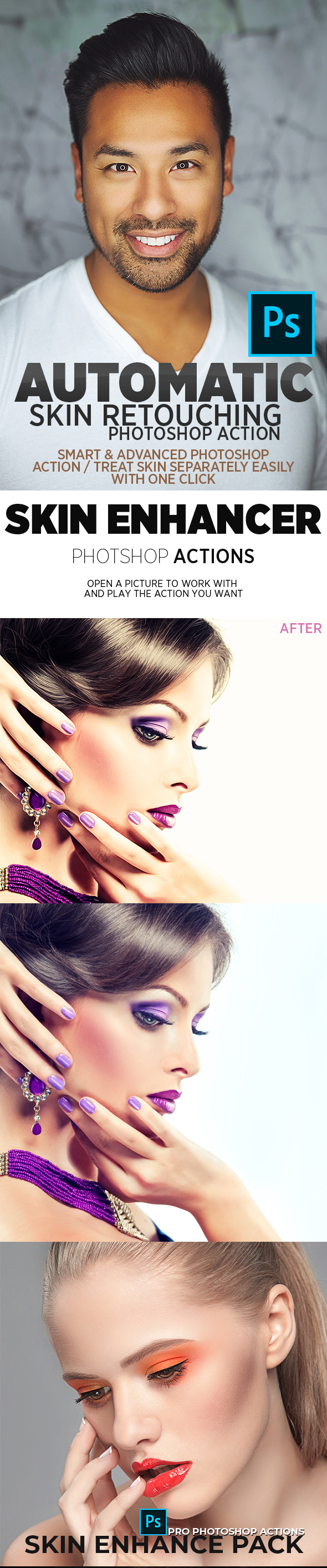 Ultimate Skin Retouching Bundle - Photo Effects Actions