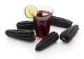 chicha morada, peruvian purple corn drink isolated on white background - PhotoDune Item for Sale