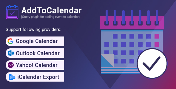 AddToCalendar - Add Events to Your Calendar            Nulled