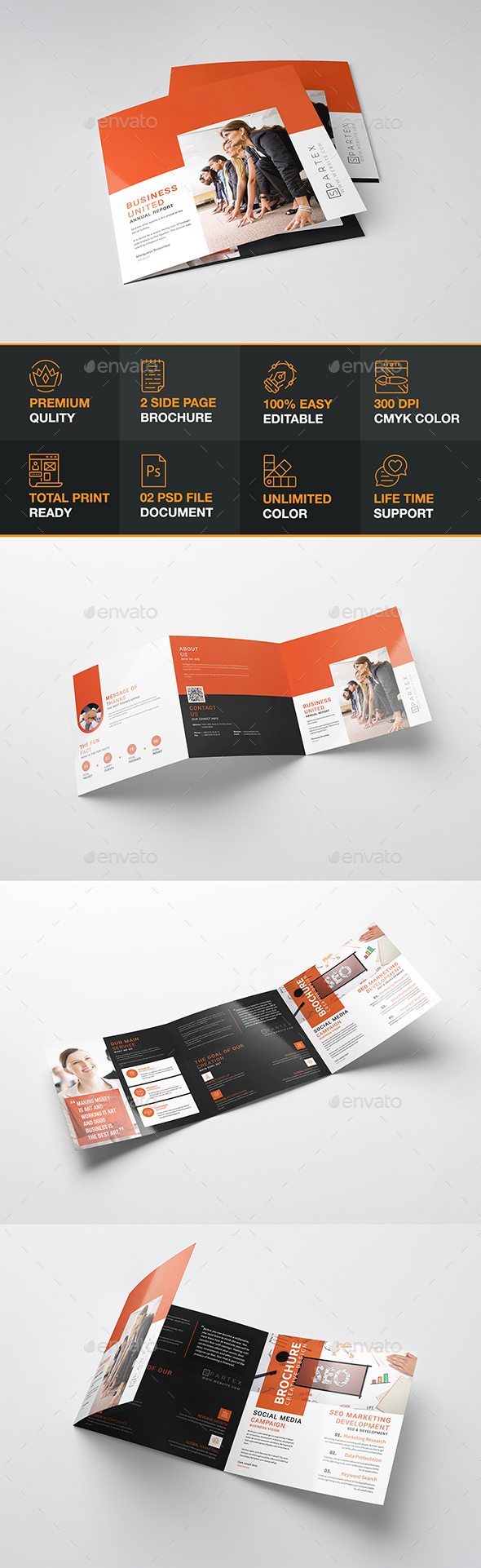 Romalio Square Tri-fold Brochure - Brochures Print Templates
