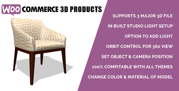 Woocommerce 3D Products            Nulled