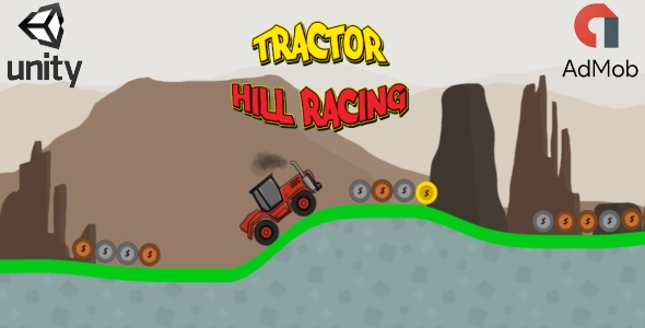 Tractor Hill Racing (Unity3D game + Admob Ads)