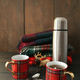Mugs with hot tea and thermos - PhotoDune Item for Sale