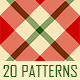 20 Christmas Tartan-Plaid PS Patterns - GraphicRiver Item for Sale