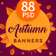 Autumn Sale Web Banner Set Bundle - 5 Sets - 88 Banners - GraphicRiver Item for Sale