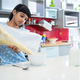 Girl pouring breakfast cereal in bowl - PhotoDune Item for Sale