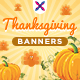 Thanksgiving Web Banner Set - GraphicRiver Item for Sale