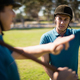 Tow male jockey talking to each other - PhotoDune Item for Sale