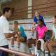 Free Download Volleyball coach instructing to female players Nulled