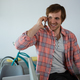 Free Download Smiling businessman talking on phone Nulled