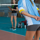 Free Download Mid section of volleyball player gesturing while playing Nulled