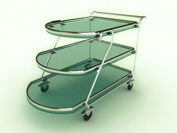 Tea Trolley - 3DOcean Item for Sale