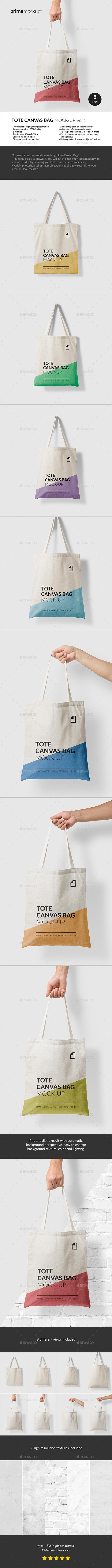 Canvas Tote Bag Mock-Up Vol.1 - Miscellaneous Apparel