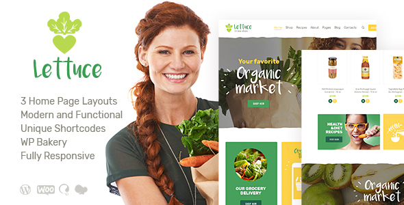Lettuce Organic Food Eco Products WordPress Theme