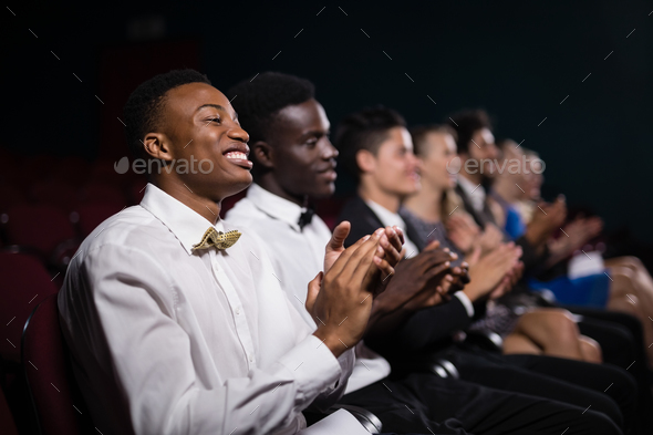 Group of people applauding - Stock Photo - Images