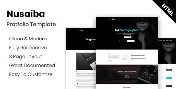 Nusaiba - Photography Portfolio HTML Template