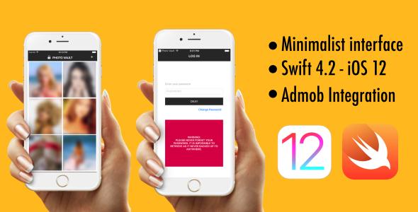 Photo Vault - Swift 4.2 - iOS 12 - AdMob - CodeCanyon Item for Sale