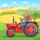 Farmer on the Tractor - GraphicRiver Item for Sale