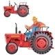 Farmer Tractor Driving - GraphicRiver Item for Sale