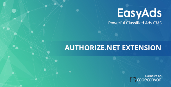 Authorize.Net Payment Extension For EasyAds Classifieds CMS Free Download | Nulled
