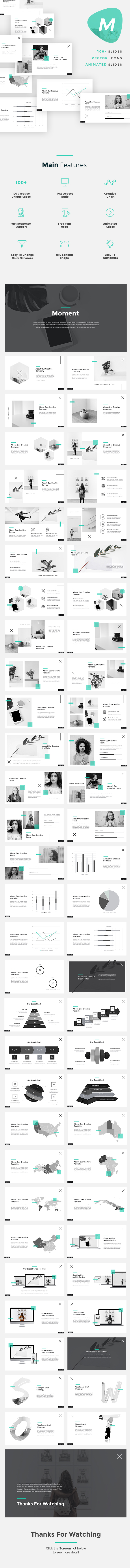 Moment - Minimalist Google Slides Template - Google Slides Presentation Templates