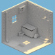 House BackDoor isometric - 3DOcean Item for Sale