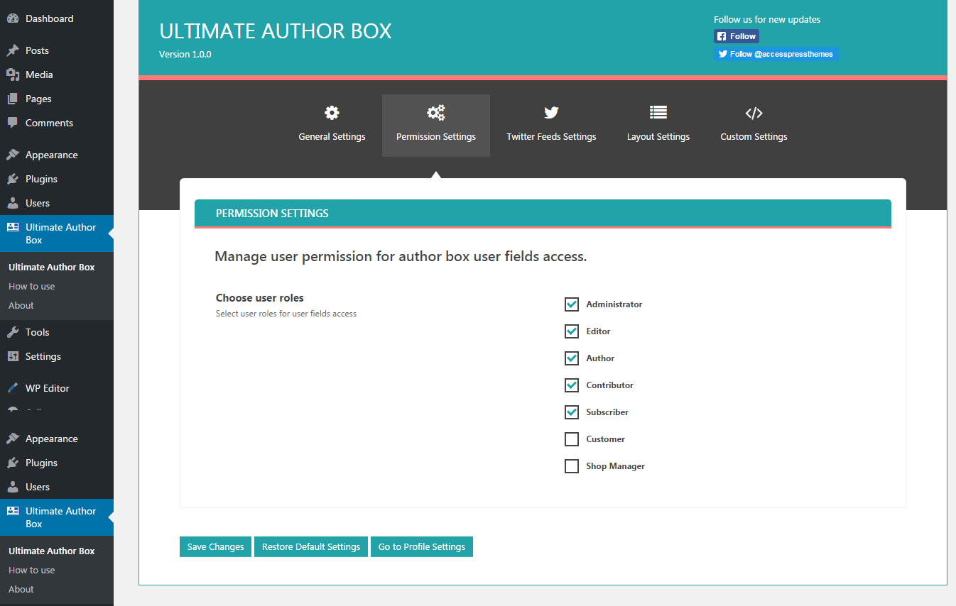 Ultimate Author Box - Responsive Post/Article Author Section Plugin for  WordPress