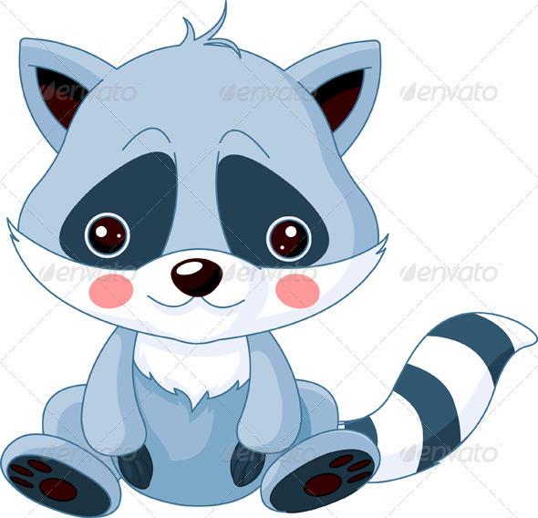 Fun zoo. Raccoon   - Animals Characters