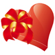 valentines heart with bow - GraphicRiver Item for Sale