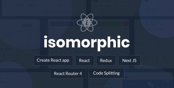 Isomorphic - React Redux Admin Dashboard - Admin Templates Site Templates