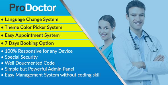 ProDoctor - Doctor Appointment System with Portfolio Management Free Download | Nulled