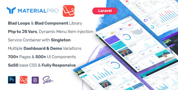 Material Pro - Laravel Admin Template            Nulled