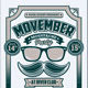 Movember Moustache Party Flyer - GraphicRiver Item for Sale