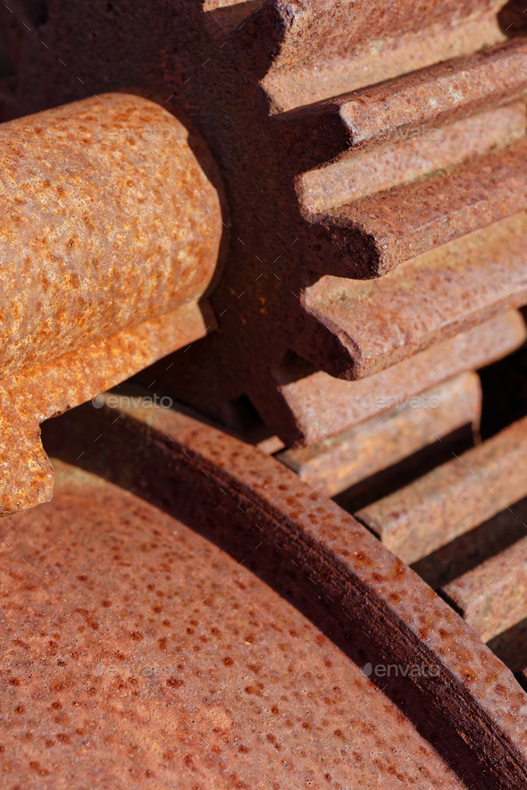 Old rusted cogwheels - Stock Photo - Images