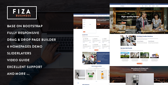Fiza - Responsive Business Service Drupal 8.6 Theme - Business Corporate