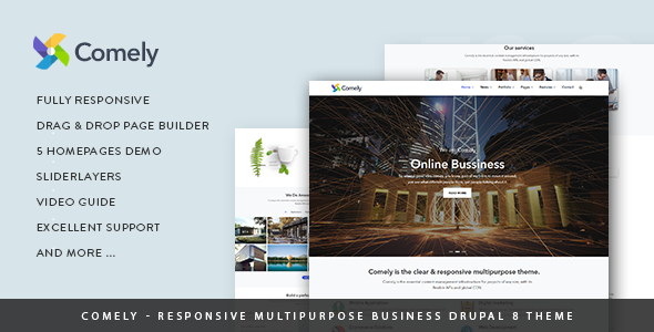 Comely - Responsive Multipurpose Business Drupal 8.6 Theme - Business Corporate