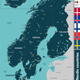 Map of Nordic Countries - GraphicRiver Item for Sale