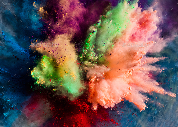 Color Explosion Stock Footage Video | Shutterstock |Color Powder In Air