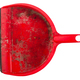 closeup of dirty red dustpan on white background - PhotoDune Item for Sale