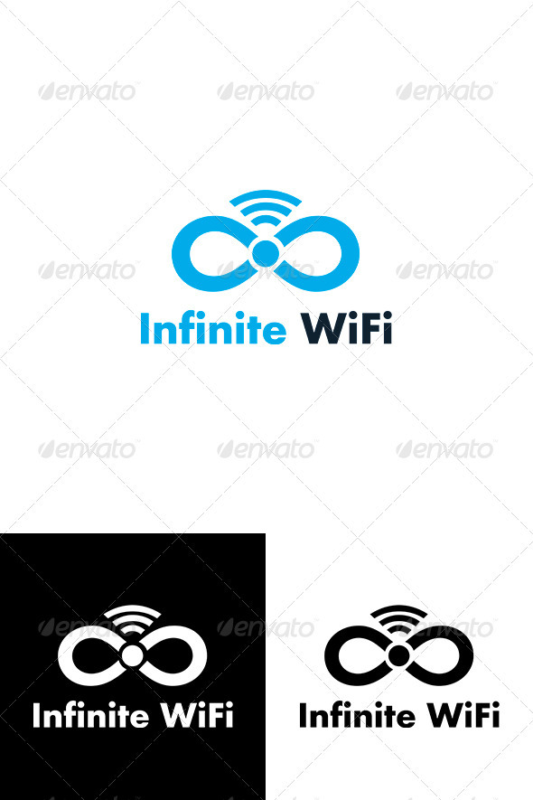 Infinite WiFi Logo Template - Vector Abstract
